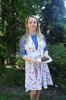 Iné oblečenie - Kvetovaná fertuška alá Marilyn Monroe - 8267646_