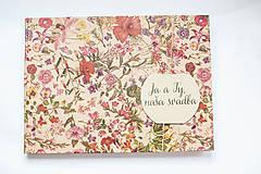 Papiernictvo - Svadobná kniha hostí /fotoalbum - 8267595_