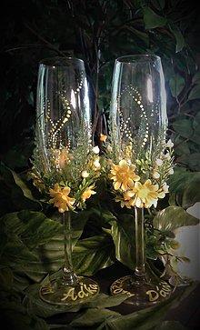 Iné doplnky - Svadobné poháre - letná lúka - 8268851_