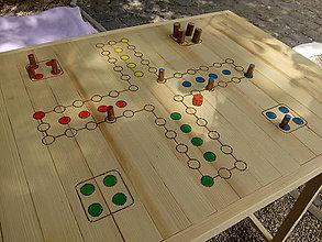 Nábytok - Skladací drevený stolík človeče - 8267742_