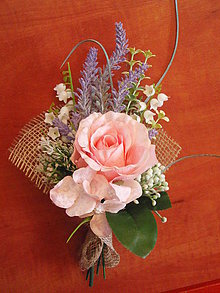 Dekorácie - Kytička pre učiteľku - ružová - 8268020_