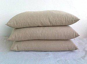 Úžitkový textil - FILKI šupkový vankúš na spanie 45 cm (poloľanový) - 8266720_