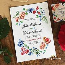 Papiernictvo - Svadobné oznámenie ~Natural Folklor~ - 8268167_