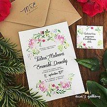 Papiernictvo - Svadobné oznámenie ~Natural Flower~ - 8268547_