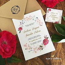 Papiernictvo - Svadobné oznámenie ~Natural Rose~ - 8268699_