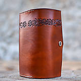 Peňaženky - Priestranná kožená peňaženka - FOLK - 8268105_