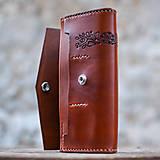 Peňaženky - Priestranná kožená peňaženka - FOLK - 8268106_