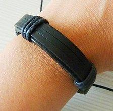 Šperky - Kožený hladký, čierny - 8268192_