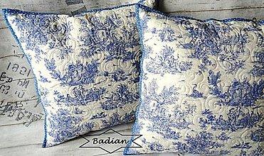 Úžitkový textil - Toile de Jouy ... vankúš - 8269736_