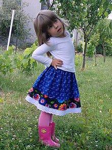 Detské oblečenie - Suknica na ľudovú nôtu, štvrtú - 8269849_
