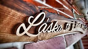 Dekorácie - Citát na dreve  - 8270333_