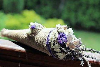 Dekorácie - Kytička zo sušených kvetov - 8269494_