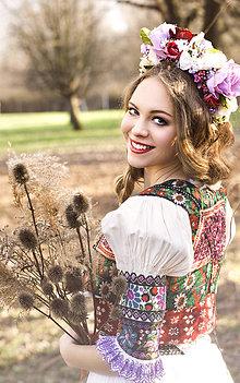 Ozdoby do vlasov - Svadobná kvetinová parta - 8271519_