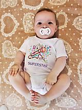 Detské oblečenie - Detské body- SUPERSTAR - 8269269_