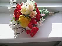 """Dekorácie - Kytička kvetov """"...žiarivá..."""" - 8269265_"""