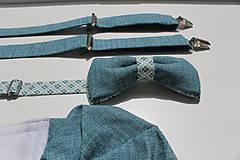 Doplnky - AKCIA Set modrý vzor opačný - 8269921_