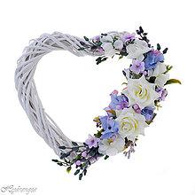 Dekorácie - Srdiečko svadobné - 8268898_
