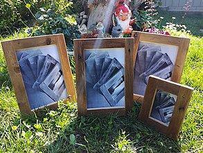 Rámiky - Rámik na fotky so starého dreva na stôl - 8270452_