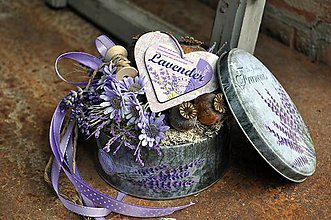 Dekorácie - Levanduľový kvetinový box - 8271088_
