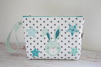 Detské tašky - Bodkovaná kozmetická taška / plienkovník - 8271449_