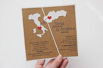 Papiernictvo - Svadobné oznámenie s mapkami - 8270669_