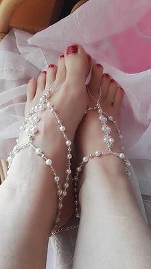 Náramky - Beauty pearls - retiazka na nohu - 8270146_