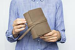 Papiernictvo - Kožený zápisník Kristofer - 8269590_