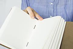 Papiernictvo - Kožený zápisník Kristofer - 8269593_
