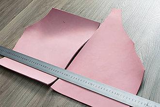 Suroviny - Zbytkový nubuk ružový - 8270154_