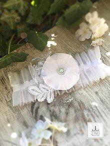 Bielizeň/Plavky - Svadobný podväzok tylový kvet - 8269997_
