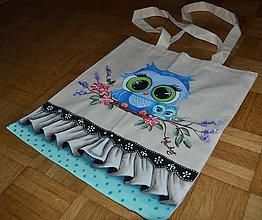 Nákupné tašky - ručne maľovaná taška - sovy 2 - 8271486_
