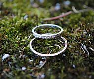 Prstene - Obrúčky s briliantmi - 8273582_