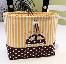 Detské tašky - Košík / taška na bicykel - BikeBag (Pásikavý CIK-CAK) - 8273823_