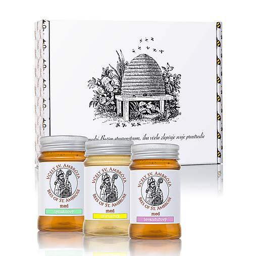 darčekové balenie 3 medov