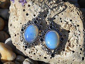 Náušnice - blue opalit - 8272141_