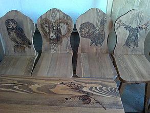 Nábytok - drevené stoličky stôl - 8272255_