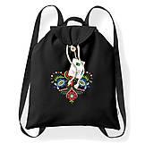 Batohy - Bavlnený festivalový ruksak, čierny, výšivka Vajnory - 8273861_
