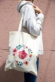 Nákupné tašky - Taška Kvety - 8271707_