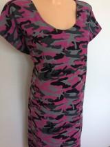 Šaty - Šaty-růžový army styl - 8274857_