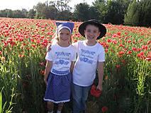 Detské oblečenie - Tričko švárneho mládenca.. a dievčiny (98) - 8274839_
