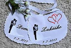 - svadba -podbradníky vyšívané - 8274845_