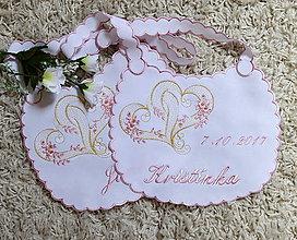 Iné doplnky - svadba -podbradníky vyšívané - 8274833_