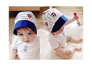 Detské čiapky - Baby čepiec Loďky - 8274886_