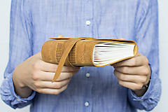 Papiernictvo - Kožený zápisník Hugo - 8272519_