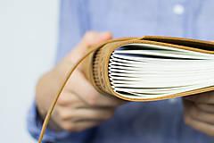 Papiernictvo - Kožený zápisník Hugo - 8272520_