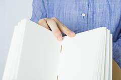 Papiernictvo - Kožený zápisník Hugo - 8272521_