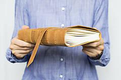 Papiernictvo - Kožený zápisník Adam - 8272567_