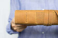 Papiernictvo - Kožený zápisník Adam - 8272568_