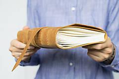 Papiernictvo - Kožený zápisník Adam - 8272569_