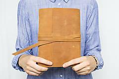 Papiernictvo - Kožený zápisník Adam - 8272578_